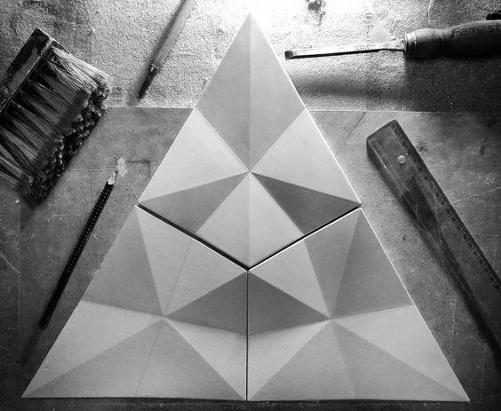 Ghép gạch 3D xi măng họa tiết phong phú