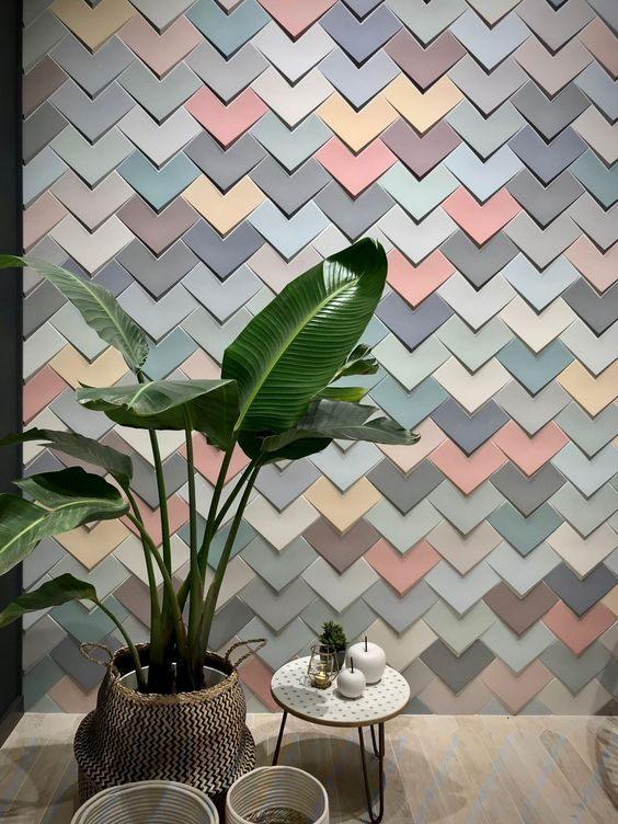 ứng dụng gạch 3d ốp tường trang trí nội ngoại thất - VLXD Milli