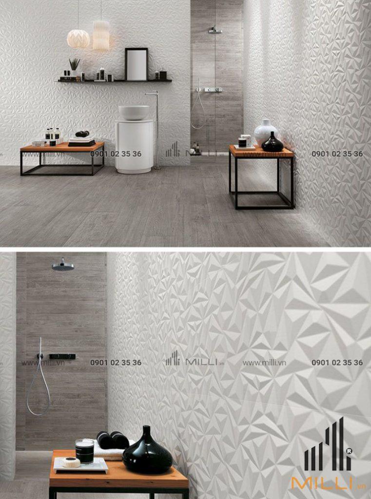 Gạch 3D ốp tường trang trí nội thất bê tông xi măng ốp tường GFRC sợi thủy tinh cường độ cao (7)