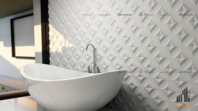 Gạch 3D bê tông xi măng ốp tường GFRC sợi thủy tinh cường độ cao giá rẻ hcm