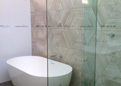 Gạch 3D bê tông xi măng trang trí nổi ốp tường GFRC sợi thủy tinh cường độ cao