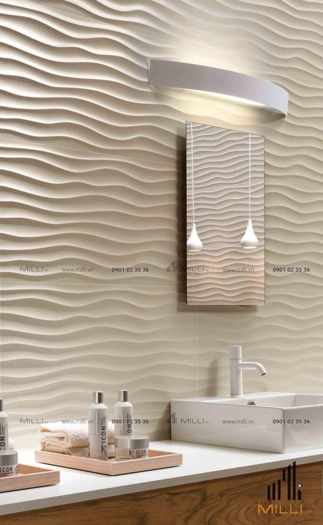 Gạch 3D nổi bê tông xi măng ốp tường GFRC sợi thủy tinh cường độ cao
