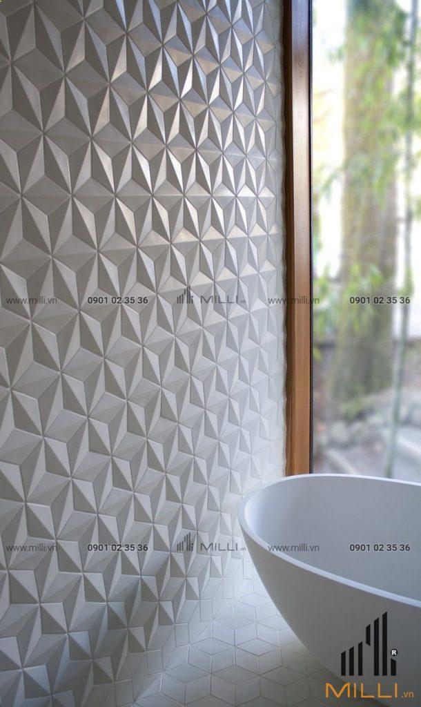 Gạch 3D trang trí ốp tường bê tông xi măng ốp tường GFRC sợi thủy tinh cường độ cao