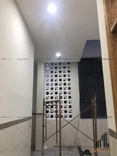 Xây dựng gạch bông gió vách ngăn nội thất Milli