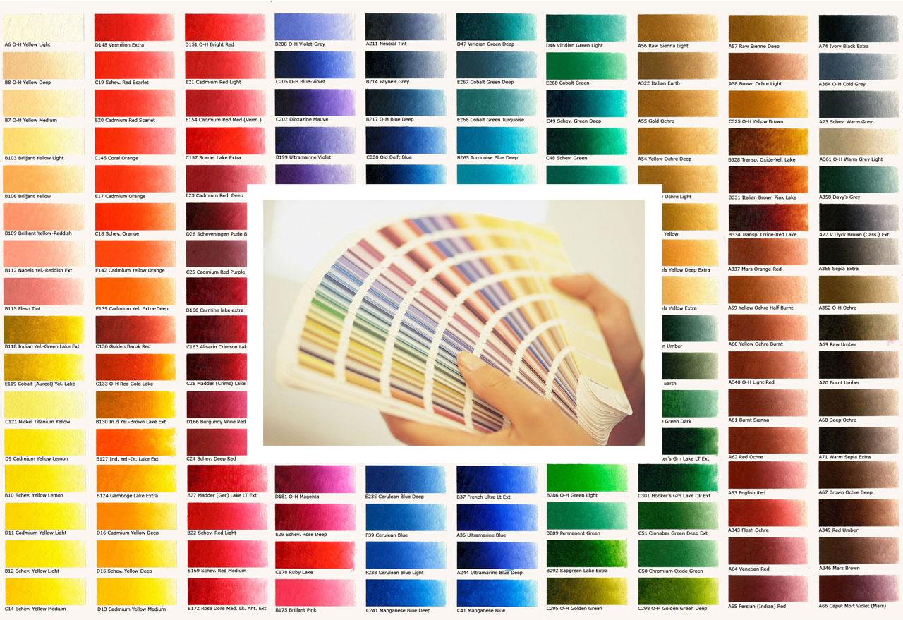 bảng màu sơn nhà