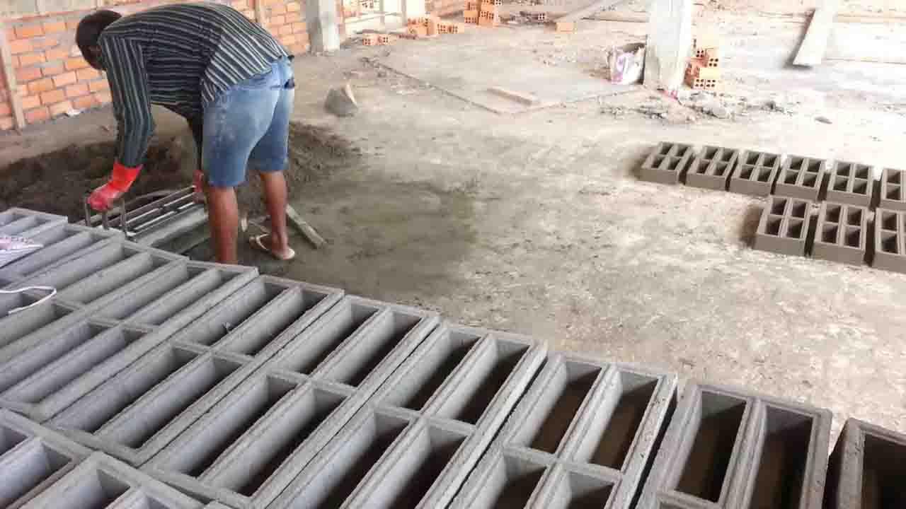 Cách sản xuất Gạch thông gió chống mưa thủ công