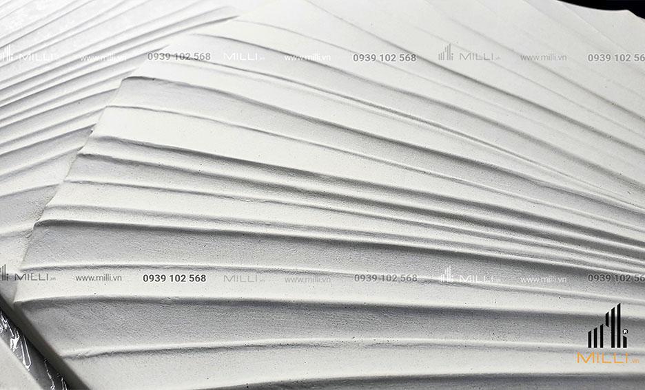 gạch 3D mẫu vân lá chuối chiếc lá ốp tường Milli lá cọ lớn nhiều màu trắng