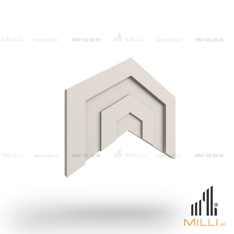gạch 3d xi măng ốp tường mẫu i04 lục vát