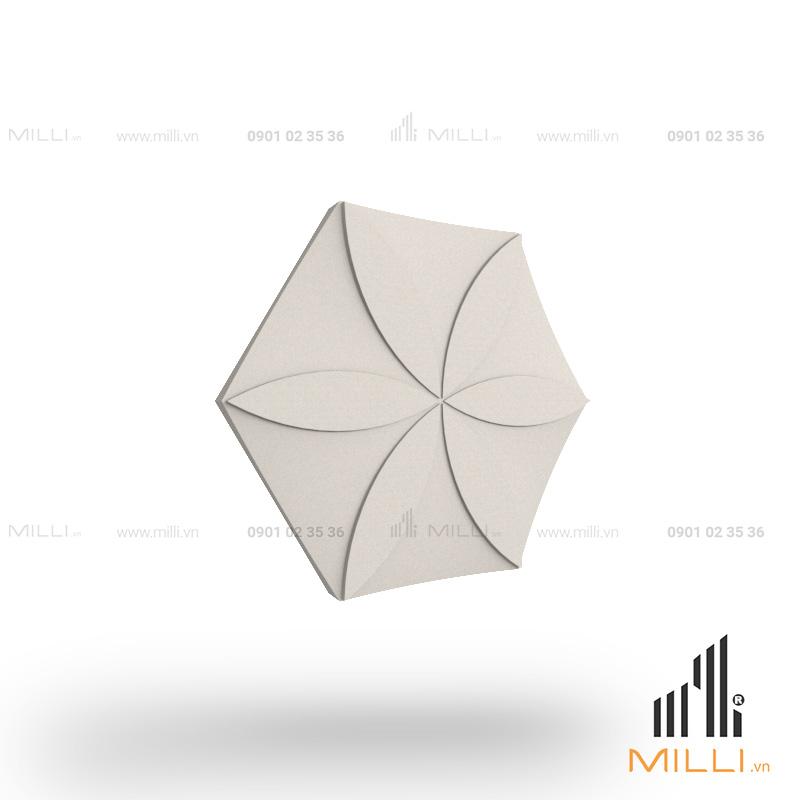 gạch 3d xi măng ốp tường mẫu i06 hoa thị lục giác