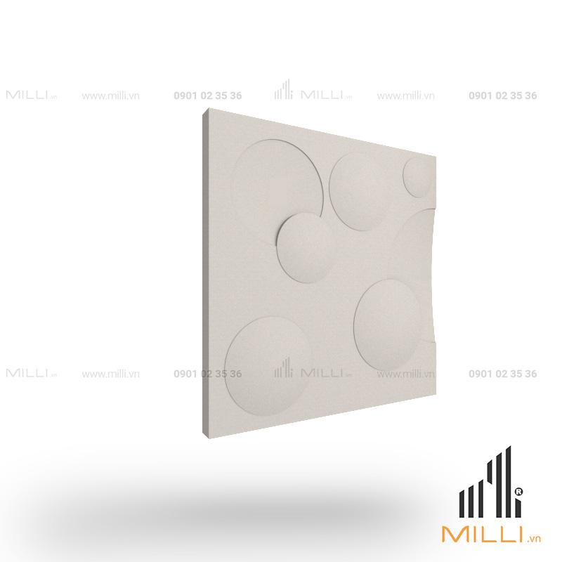 gạch 3d xi măng ốp tường mẫu i15 tròn nổi