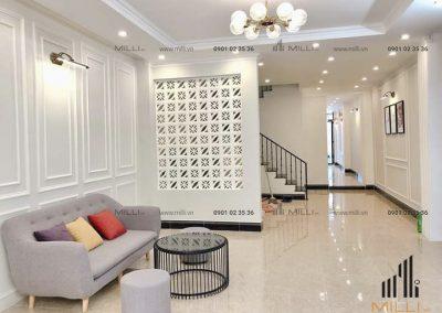Gạch trang trí nội thất vách ngăn ốp tường bông gió Milli